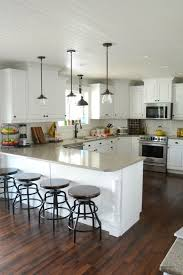 Kitchen Peninsula Lighting Best 25 Kitchen Peninsula Ideas On Pinterest Kitchen Bars Together