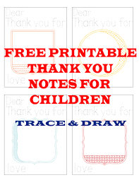 free printable thank you notes for children jessicalynette