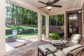 covered back porch from the gates at ethan u0027s glen gold parade home