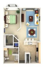 Studio Floor Plans College Park Studio 1530 3d For Web Small House Pinterest