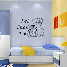 quote decals for glass pet shop dog cat store vinyl wall sticker glass decal picture