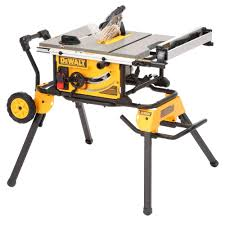 Homedepot by Dewalt 15 Amp 10 In Job Site Table Saw With Rolling Stand
