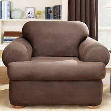 Armchair Leather Sure Fit Stretch Leather T Cushion Armchair Slipcover U0026 Reviews