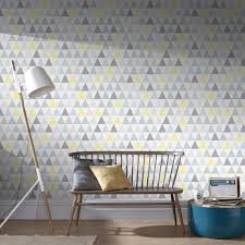 Removable Wallpaper Tiles by Graham And Brown Symmetry Tarek Yellow Blue Removable Wallpaper