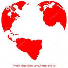 World Map Globe by Heart World Map Globe Vector Illustrator Eps 10 U2014 Stock Vector