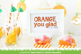 welcome home party decorations the lawn fawn blog elena u0027s orange you glad party