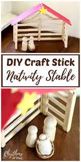 diy craft stick nativity stable tutorial rhythms of play