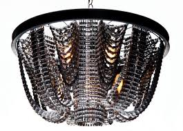 recycled chandeliers l a artist handcrafts luxurious chandeliers entirely from
