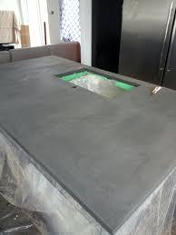 comptoir ciment cuisine comptoirs de cuisine en béton ciré pigments d