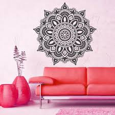 Beautiful Wall Stickers For Room Interior Design Online Shop Beauty Mandala Wall Decal Ornament Geometric Indian