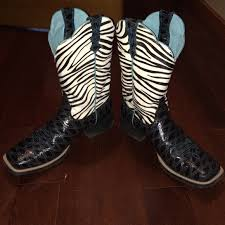 womens zebra boots 46 ariat boots ariat s zebra top cowboy boots from
