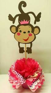 Baby Monkey Centerpieces by Mod Monkey Pink And Lime Green Centerpiece By 3rdgenerationcrafts