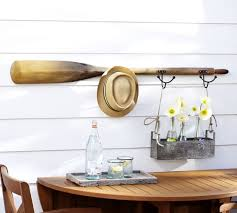 Oar Decor by Tali Oar Row Of Hooks Pottery Barn