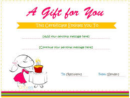 template for a gift certificate best 25 printable gift