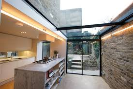 glass roof house create a bright side infill extension with minimal windows