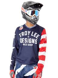 motocross jersey design troy lee designs navy 2018 gp air americana mx jersey troy lee
