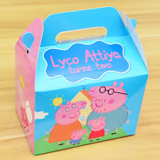 personalized favor boxes peppa pig themed personalized favor boxes gift boxes carrier