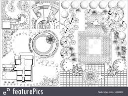 nature landscapes vector collections od landscape plan with