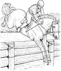 coloriage de chevaux qui saute a imprimer 1001 animaux