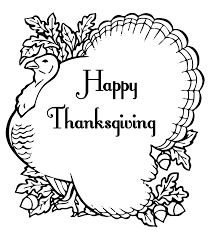 happy thanksgiving turkey coloring pages getcoloringpages com