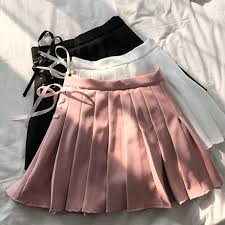 pleated skirts itgirl shop side lace up pastel colors pleated skirts