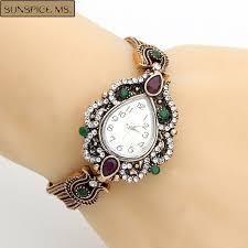 bracelet quartz images Fashion turkish women bracelets watches resin crystal flower jpg