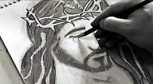 3d pencil drawings of jesus christ jesus bloody tears awesome