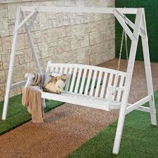 exterior sophisticated porch swing with stand for exterior
