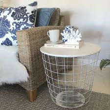 Wire Side Table Diy Coffee Table Made Out Of Wire Bin That Looks Incredibly