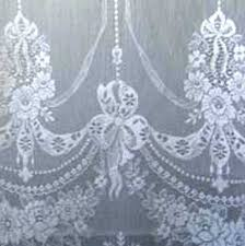 detail of our nottingham lace curtain panel called skye