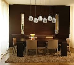 Linear Chandelier Dining Room Danica 6 Light Bronze Linear Pendant With Mercury Glass