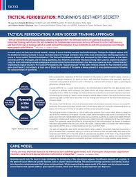tactical periodization mourinho u0027s best kept secret pdf download
