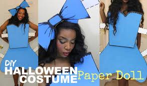 easy diy halloween costume paper doll youtube