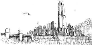 metropolis city skyline superman dc comics comic book art by