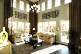 tall window treatments living room traditional with 2 story