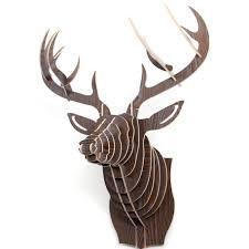 diy 3d wooden puzzle moose decor wall mount wholesales expand