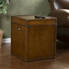home decorators collection steamer trunk walnut trunk end table