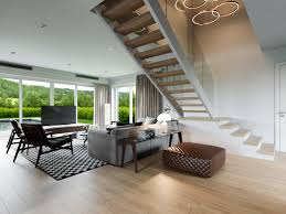 living rooms that demonstrate stylish modern design trends living full size of living rooms central staircase with open treads wooden staircase hardwood floor led