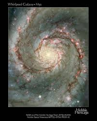 whirlpool galaxy hubblesite image the heart of the whirlpool galaxy