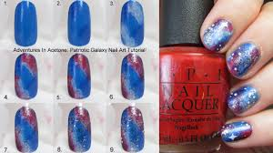 tutorial tuesday patriotic galaxy nail art adventures in acetone
