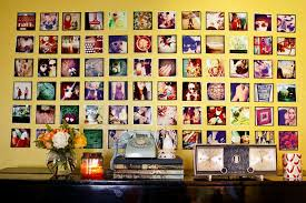 ideas for displaying photos on wall 10 ideas for square photos a beautiful mess