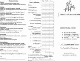 House Cleaning Estimate Form by House Cleaning Business 101 Cleaning Business Forms