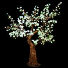 Tree Led Lights Artificial Cherry Tree 4 Ft 8 High With Led Lights See Colors