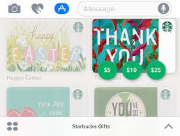 starbuck gift cards starbucks app for ios gains support for imessage gift cards mac