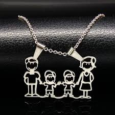 stainless steel choker necklace images Stainless steel necklace mama family necklaces jewelry silver jpg