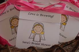bridal shower favors cheap personalized tea bag favors wedding shower