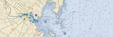 map of camden maine camden harbor maine