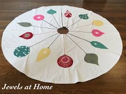 mid century ornaments christmas tree skirt jewels at home