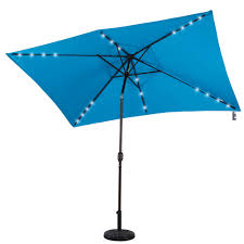 solar powered 22 led lighted outdoor patio umbrella with crank and