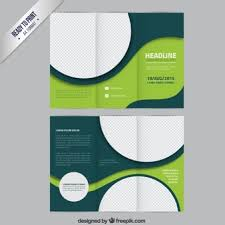green brochure template with circles 리플렛 pinterest